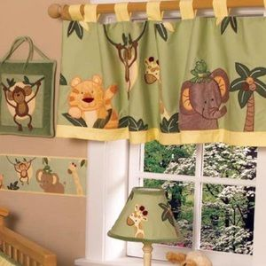 NoJo Jungle Babies Window Valances (x3)